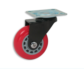 Versidex Mobile template-sets library cart wheels red wheel non-locking